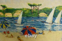 Ancien tableau des années 50/60 de Robert Rodrigue Hossegor, dans les Landes
