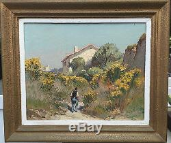Ancien tableau huile sur panneau Gustave Vidal école provencal