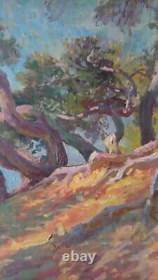 Ancien tableau huile sur toile Antoine Ponchin