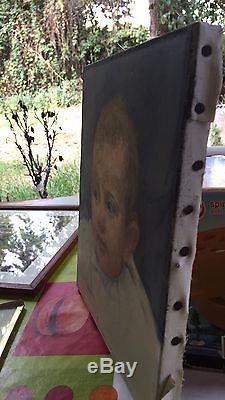 Ancien tableau huile sur toile (L ENFANT) de Luigi Boffa Tarlatta (1889 -1965)