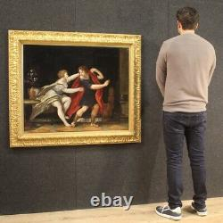 Ancien tableau mythologique peinture huile sur toile cadre 700 18ème siècle