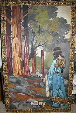 Ancien tableau peinture huile sécessionniste art nouveau Paul SÉRUSIER Nabis