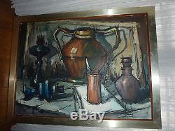 Ancien tableau peinture huile sur toile. Signé