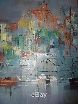 Ancien tableau peinture huile sur toile. Signé Lancelot Ney