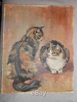 Ancien tableau peinture à l'huile de Mrs Sarah GRICE artiste anglaise de renom