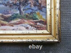 Ancien très beau tableau de montagne signé Florent Chadé Grenoble Chamonix