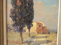 André Béronneau grand TABLEAU ANCIEN impressionniste saint tropez huile benezit