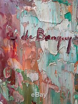 Anna de Banguy Ancien Tableau Peinture Huile Original Antique Oil Painting