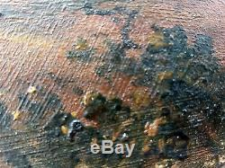 Antique Oil Painting Old Vintage Original Ancien Tableau Peinture Huile