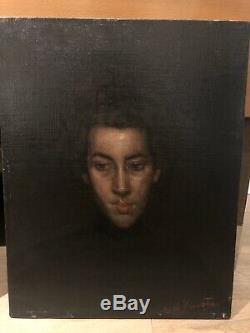Antonio De La Gandara (1861-1917) Portrait De Femme Tableau Ancien