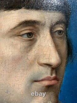 Attribué à Hans Holbein (1497-1543) Portrait d'homme, tableau ancien du XVIe