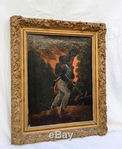 Auguste Raffet ou à identifier tableau représentation militaire ancienne
