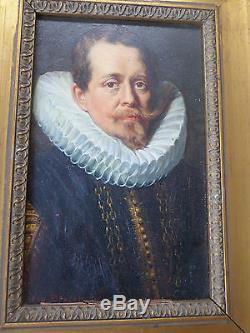 BERCKMANS Carl-XIXe-Tableau ancien/ Huile- Portrait J. Ch. De Cordes-Rubens-OIL