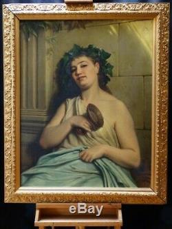 Bacchanale Très grand tableau ancien par Edouard JOLIN (1817-1892)