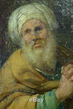 Beau TABLEAU ANCIEN 17 ème Rome Portrait de Religieux deux Apotres rare Hst