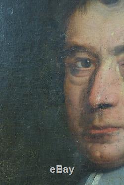 Beau Tableau Ancien 17 ème Portrait d'Homme ec. Française Prélat écclésiastique