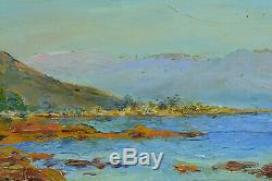 Beau Tableau Ancien Paysage Marine Baie d' Ajaccio Corse Gaston Guignard 19e