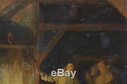 Beau tableau ancien Religieux Mort saint Bruno moine Chartreux EUSTACHE LE SUEUR