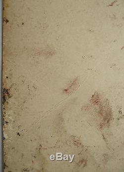 Belle Petite Huile Ancienne Composition abstraite Abstraction c. 1950 #2 Tableau