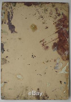 Belle Petite Huile Ancienne Composition abstraite Abstraction c. 1950 #3 Tableau