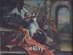 Belle Tableaux Anciens Du 17ème Deux Scènes Bibliques