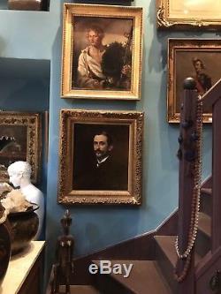 Carolus-Duran, Portrait de Henry Valentino, Tableau Ancien XIX huile sur toile