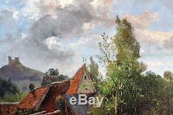 Charles DAMERON (1848-1908) BARBIZON IMPRESSIONNISTE HUILE TABLEAU ANCIEN CADRE