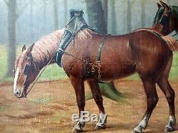 Charles-Henri Stiennon (1851-1942) Ancien Tableau Peinture Huile Original