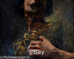 Constant LOUCHE (1880-1965) PORTAIT HUILE TOILE TABLEAU ANCIEN IMPRESSIONNISME