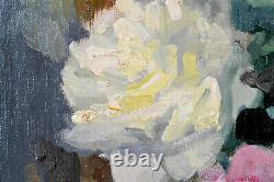 Cyprien Eugène BOULET (1877-1927) NATURE MORTE AUX ROSES TABLEAU ANCIEN CADRE