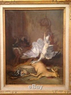 Désiré Alfred MAGNE (1855-1936) Tableau Ancien Nature Morte Gibier Huile Signée