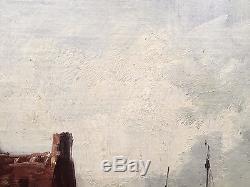 Deux tableaux ancien huile sur toile. Peintre A. Nolet 19e siècle. Oil on canvas