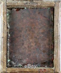 Ecole Italienne début du XVIIe vers 1620, tableau ancien, cuivre cadre Vénitien