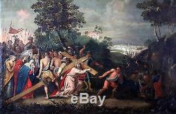 Ecole flamande du début du XVIIè, tableau ancien, HST