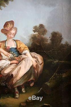 Ecole française du XVIIIe siècle autour de François Boucher tableau ancien, HST