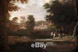 Ecole française ou hollandaise fin 18è, tableau ancien, HSP monogrammé