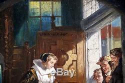 Ecole hollandaise du XIX, tableau ancien, HSP