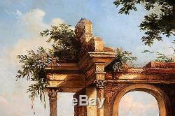 Ecole italienne du 19è, tableau ancien, HSP monogrammé