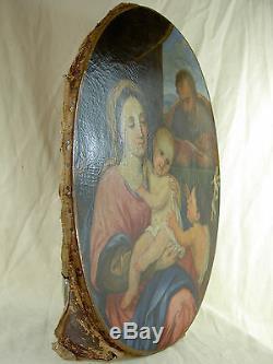 Ecole provençale du XVIIème entourage de Mignard, tableau ancien HST religieuse