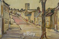 Elisée Maclet peinture ancienne huile sur carton 1935/1945 Montmartre tableau