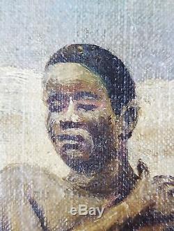 Emile Verkouille (Belge, 1864-1927) Ancien Tableau Peinture Huile Original