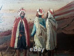 Ernst Huber (Autrichien, 1895-1960) Ancien Tableau Peinture Huile Original