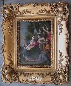 Exceptionnel Tableau ancien Huile sur cuivre Proche Francesco Albani Italie 1700