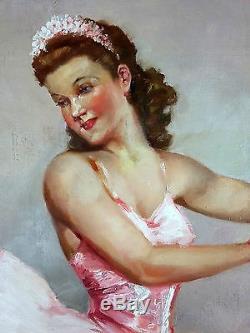 Fernand Jean Barbier (XXe) Ancien Tableau Peinture Huile Original Oil Painting