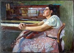 François Cron (1889-1973) Ancien Tableau Peinture Huile Original Oil Painting