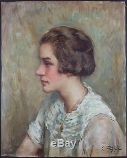 Georges Fichefet (Belge, 1864-1954) Ancien Tableau Peinture Huile Original