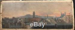 Georges Le Febvre (1861-1912) Les Toits De Paris 1884 tableau ancien