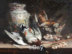 Giovanni Calvini Nature morte au canard Ecole italienne XIXe Tableau ancien