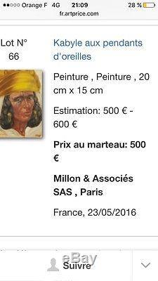 Grand Nu Tableau Ancien Huile Sur Toile (Benjamin Sarraillon)1902-1989 Ref Art