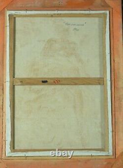 Grand Tableau Ancien Nue Fauve Portrait jeune femme Rousse Berthomme saint André